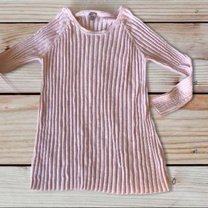 J. Jill blush pink ribbed long sleeve top tunic xl
